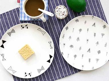 黑白系列餐盘组合