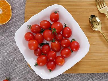纯白10寸果蔬干果盘
